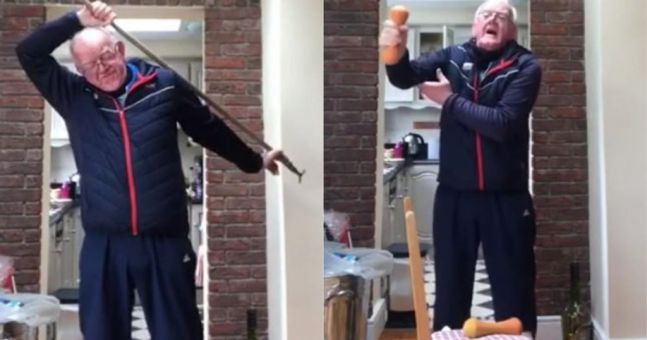 Watch: Irish grandfather lifts spirits with hilarious 'fitness for the elderly' video