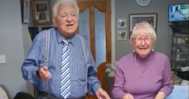 Watch: Elderly Irish couple keep busy dancing around living room to Bee Gees in hilarious clip