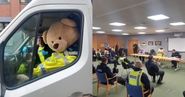 Gardaí recruit lost teddy bear into the ranks while searching for its owner