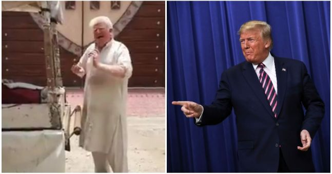 WATCH: Donald Trump LOOKALIKE spotted in Pakistan as video of albino ice cream man emerges