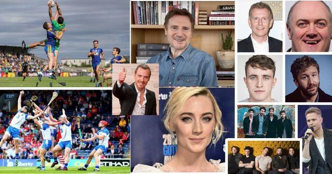 Liam Neeson, Dara O Briain, Saoirse Ronan, The Coronas, Blizzards, Westlife - played Gaelic Football and Hurling   The Irish Post