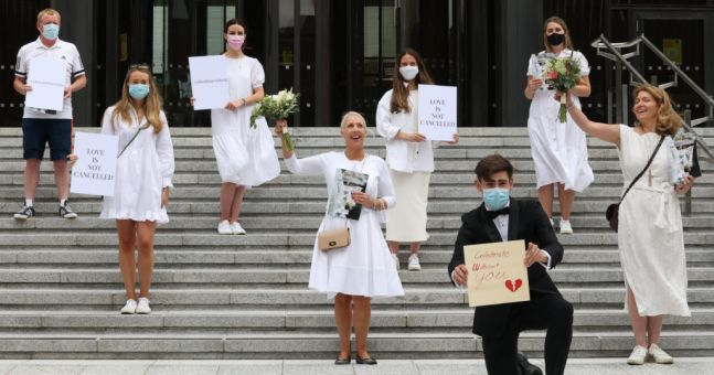 Weddings in Ireland will be allowed to have ONE HUNDRED guests from August following mass 'bridal protest'