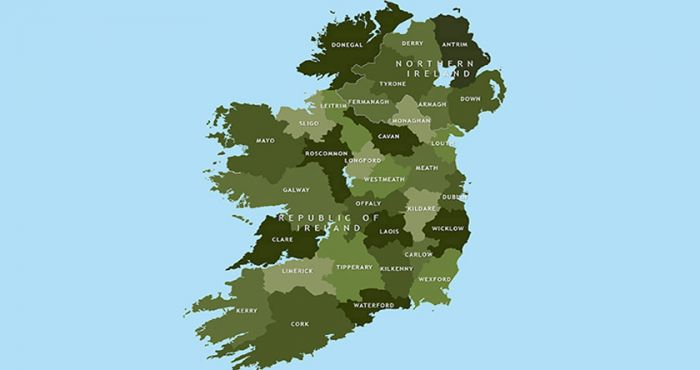 Map Of Ireland Lakes.The Counties Of Ireland And Their Nicknames From Antrim To Wicklow