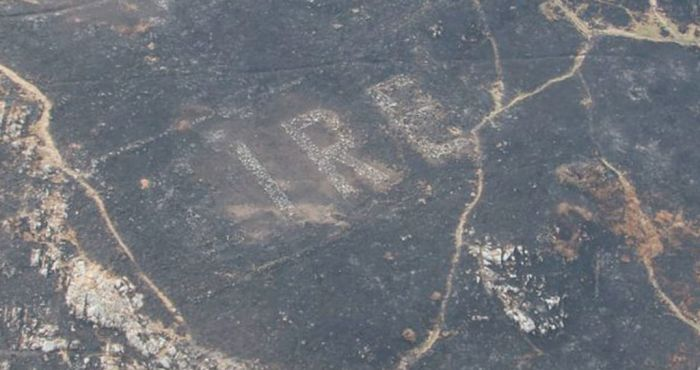 Gorse fire uncovers hidden WWII 'Éire' sign that warned fighter pilots of Ireland's neutrality