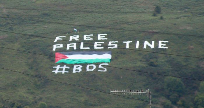 Huge 'Free Palestine' sign appears on Northern Ireland mountain in protest at Israel friendly