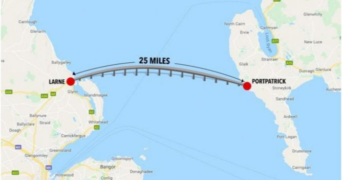 Map Of Ireland And Scotland.Scottish Government Gives Go Ahead For Bridge Linking Northern