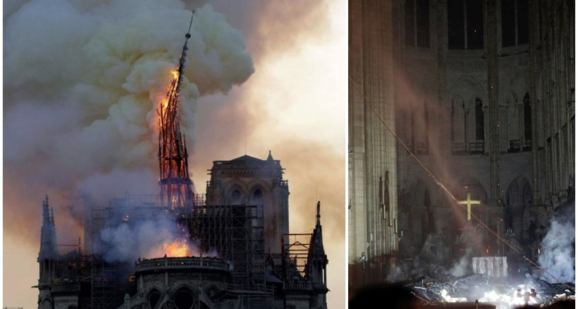 Notre-Dame fire: French President vows to rebuild iconic cathedral as two billionaires pledge over €300m to reconstruction effort