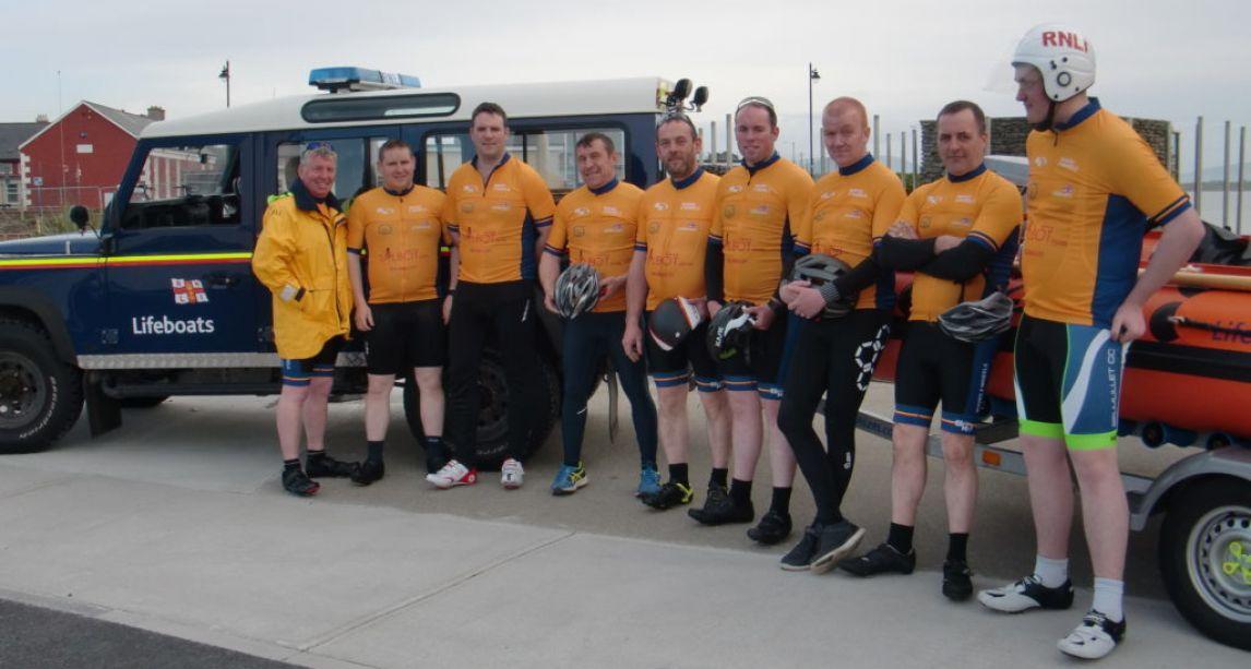 Irish RNLI lifeboat crew to swap boats for bikes in 150km charity cycle from Sligo to Mayo