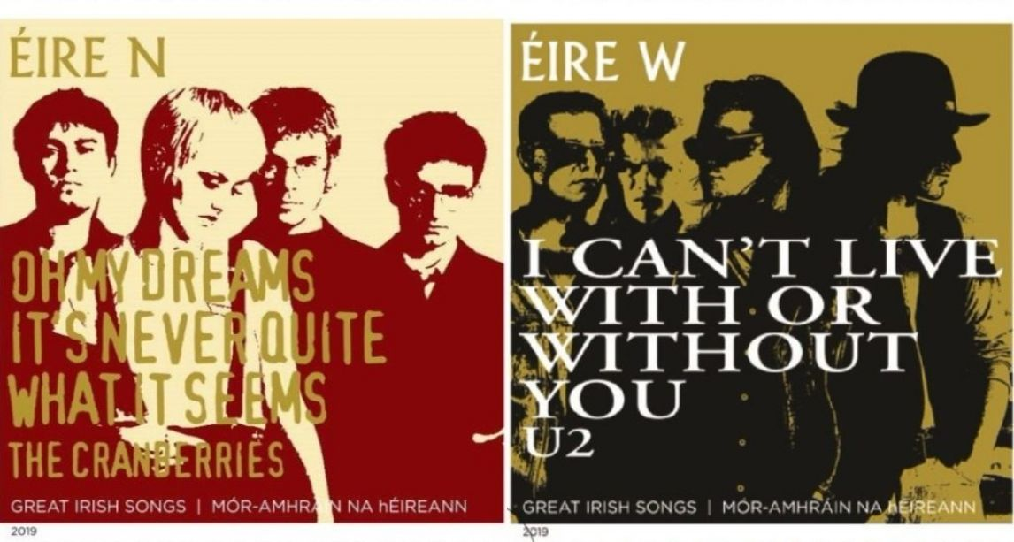 U2 and The Cranberries immortalised in new An Post stamps celebrating 'Great Irish Songs'
