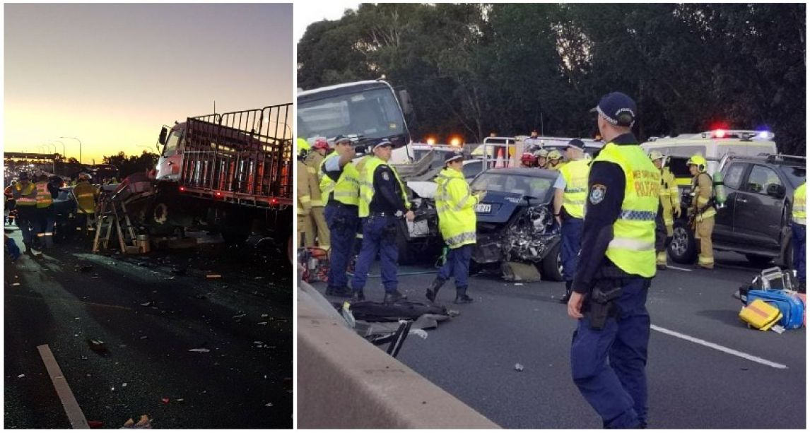 'Extremely distressing scene' as Irishman, 36, killed in horror 11-car pile-up on motorway in Sydney