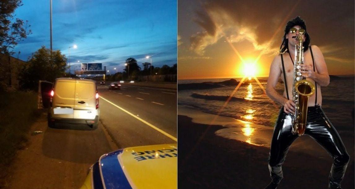 Gardai stop van driver found playing saxophone on the motorway