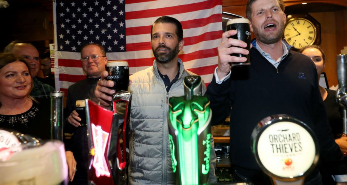 Donald Trump's sons still haven't paid the tab on their Doonbeg pub crawl