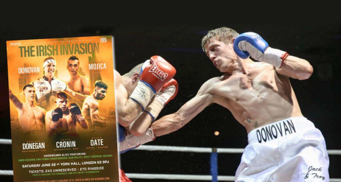 Irish boxing's poster boy Eric Donovan eyes European title as part of Irish Invasion of York Hall