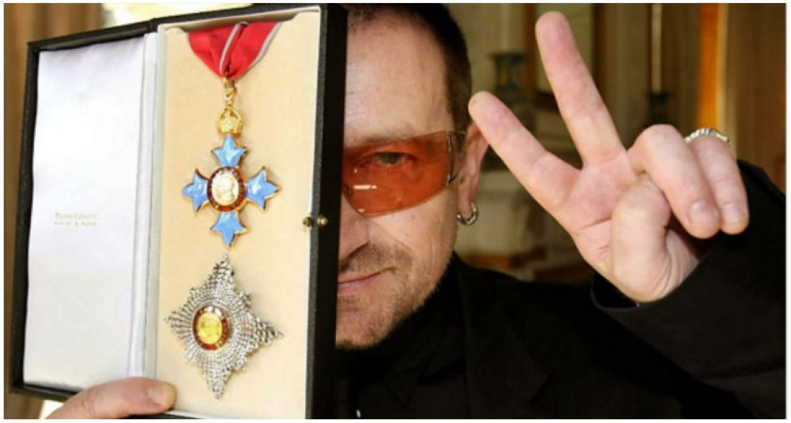 U2 frontman Bono is the least deserving celebrity knighthood, new poll of Brits finds