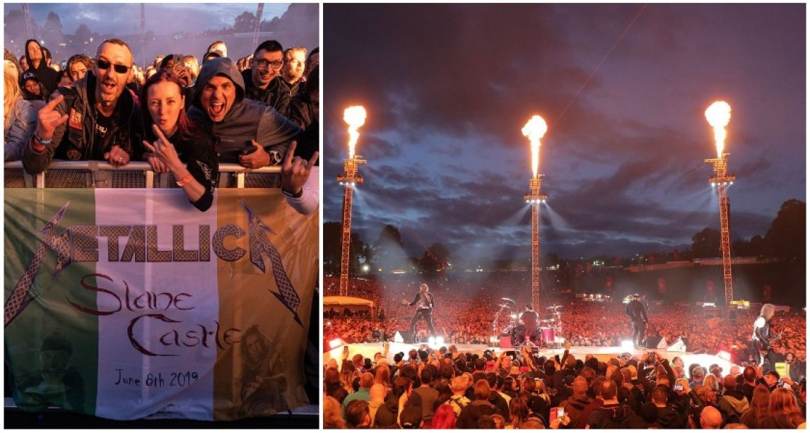 Metallica donate over €70,000 to Irish charities after epic Slane Castle gig