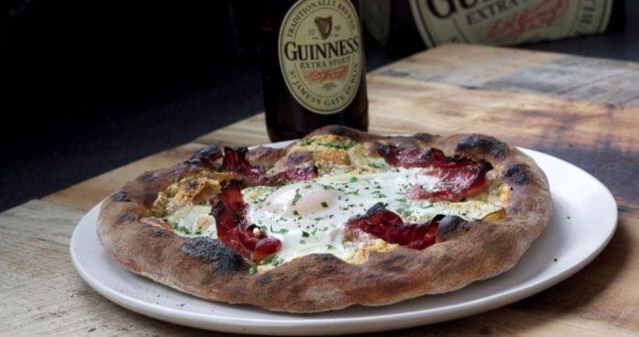 This Guinness Irish Breakfast Pizza recipe is a little slice of heaven