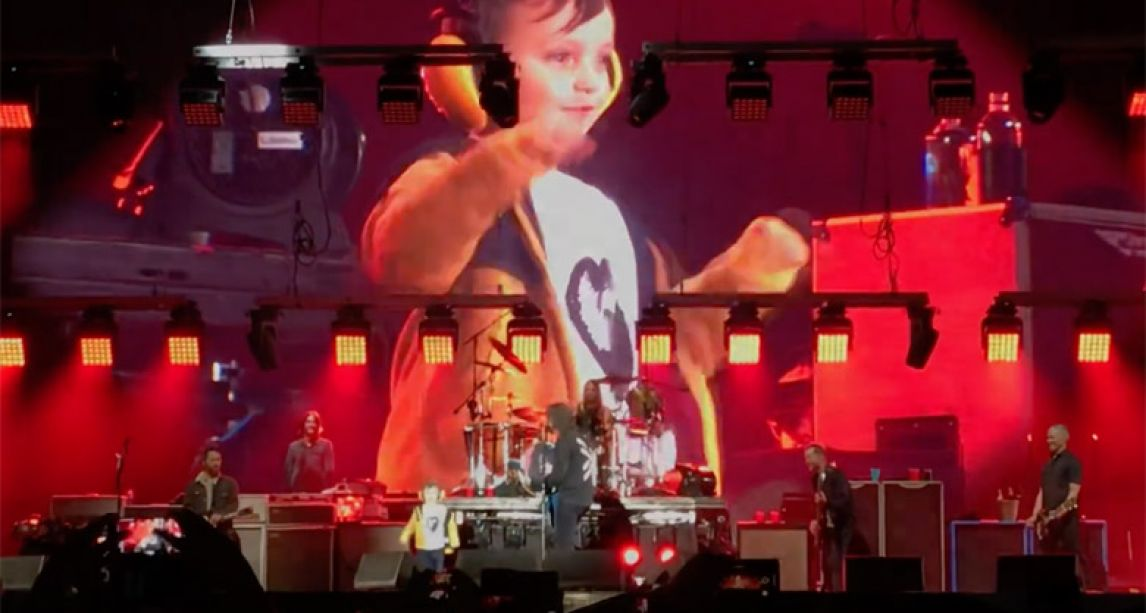 Five-year-old Foo Fighters fan wows Belfast crowd after being invited on stage by Dave Grohl