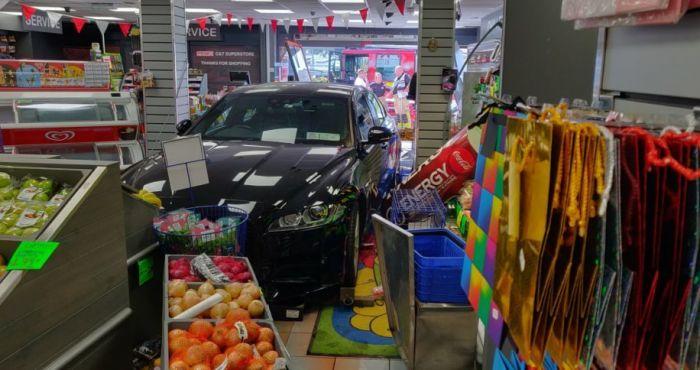 Man arrested after Jaguar car is driven through Dublin shop front   The Irish Post
