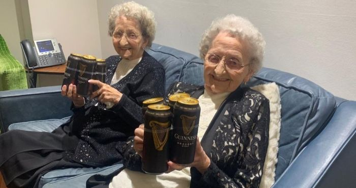 95-year-old twins reveal secret behind their longevity: 'no sex and plenty of Guinness' | The Irish Post