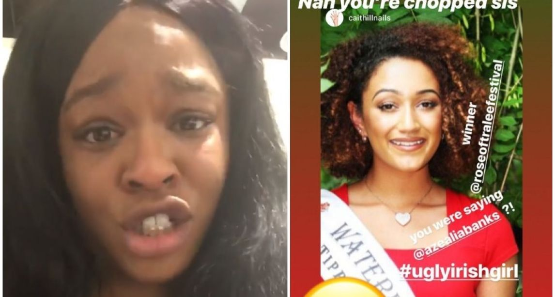 Azealia Banks brands Rose of Tralee 'ugly Irish girl' and declares herself 'Queen of Ireland' as rapper arrives on ferry for Dublin gig