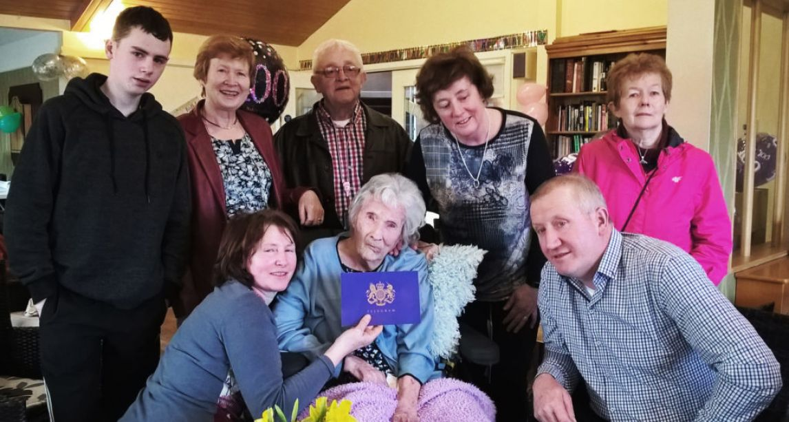 Irish woman, 100, becomes first person in her family to become a centenarian