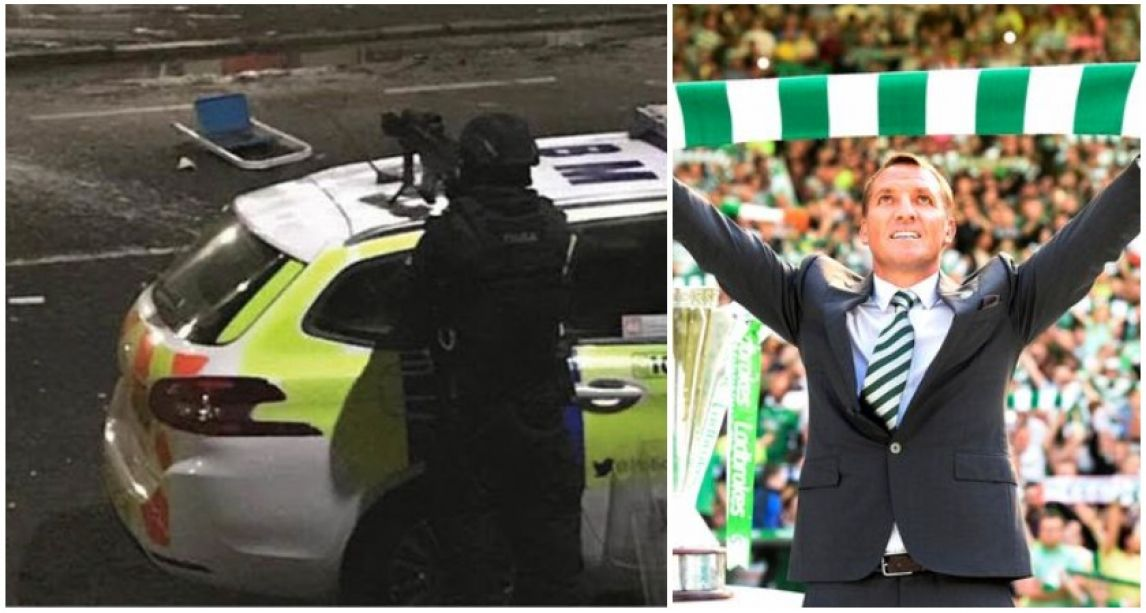 Armed police in bizarre 'siege stand-off' with man demanding Brendan Rodgers returns to Celtic