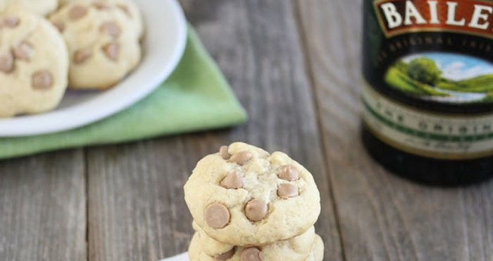 These Baileys Chocolate Chip cookies are soft, chocolatey and unmistakeably Irish