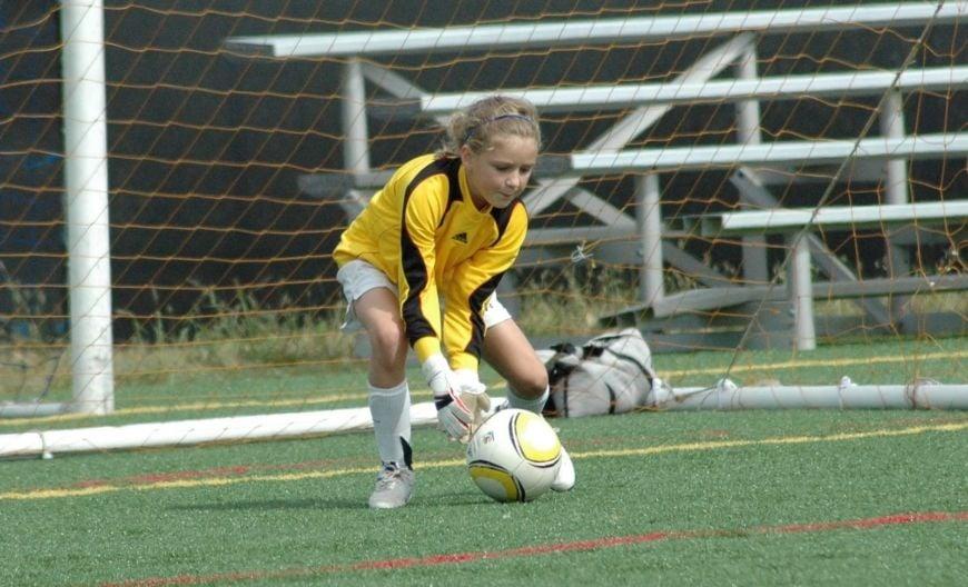 Girl Soccer Goalie