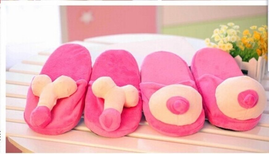 20145 Mimi Vs Penis Couple Font B Slippers B Font Indoor Floor Shoes For Font B