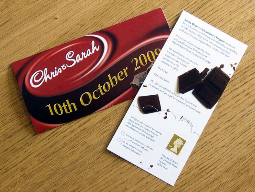 Img Wedding Invitation On Chocolate Bars Weddinginvitation Weddingi 8