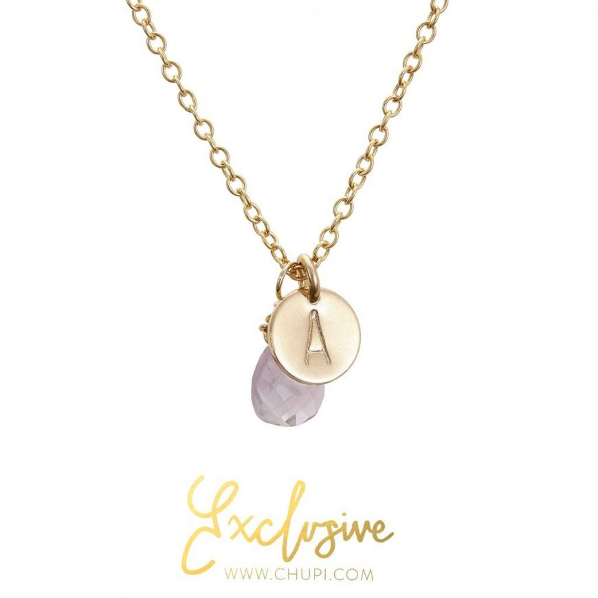 Chupi Exclusive Initial Necklace With Amethyst 1024X1024