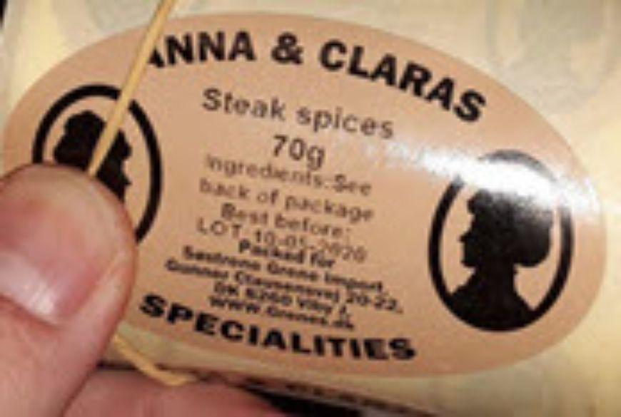Steak Spice Label