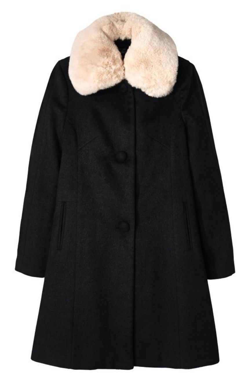 Black Coat With White Detachable Collar E282Ac29 99