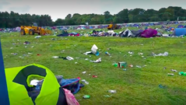 PICS: An Unbelievable Amount Of Rubbish Has Been Left Behind At The Electric Picnic Campsite