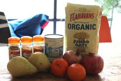 Spiced Overnight Oats Ingredients