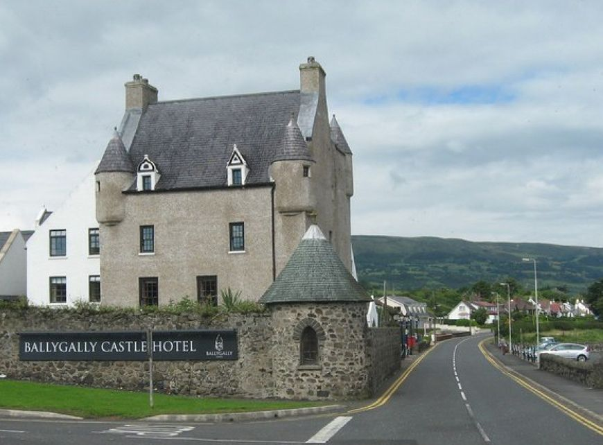 Coast Road With Ballygally Castle Hotel  Geograph Org Uk  925365