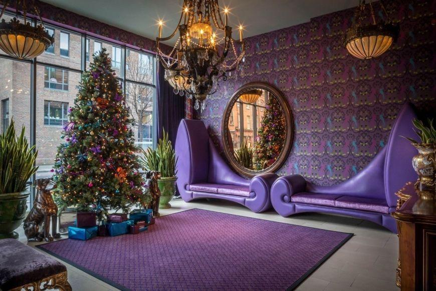 Christmas Entrance Lobby