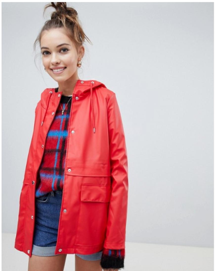 Asos Only Red Rain Coat
