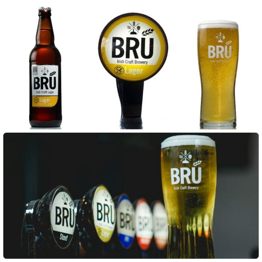 Bru Lager On Bar