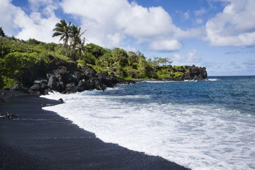 Honokalani Beach Waianapanapa State Park Maui Hi