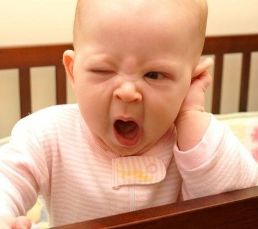 Baby Yawning Bored Baby
