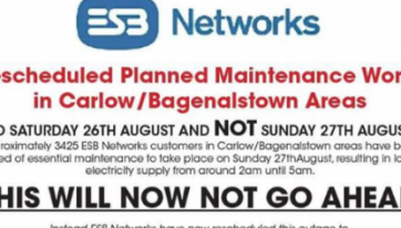 The ESB Rescheduled Maintenance Works Because Of The McGregor Fight