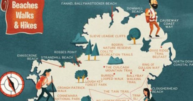 Map Of Ireland Beaches.This Handy Map Reveals The Best Beaches Walks And Hikes