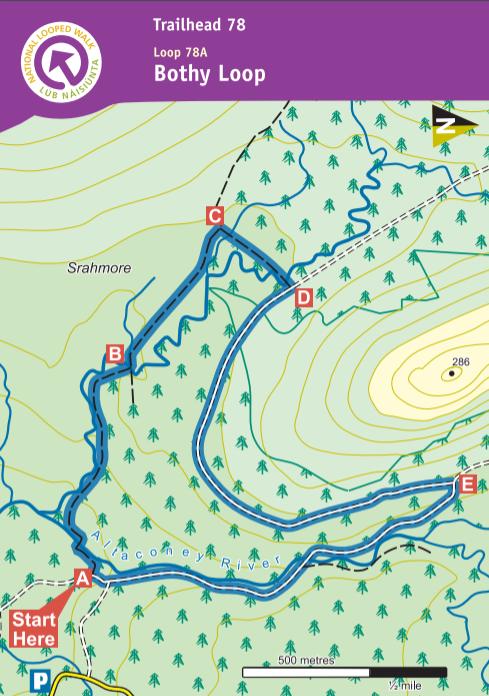 Mayo - Bothy Loop Map
