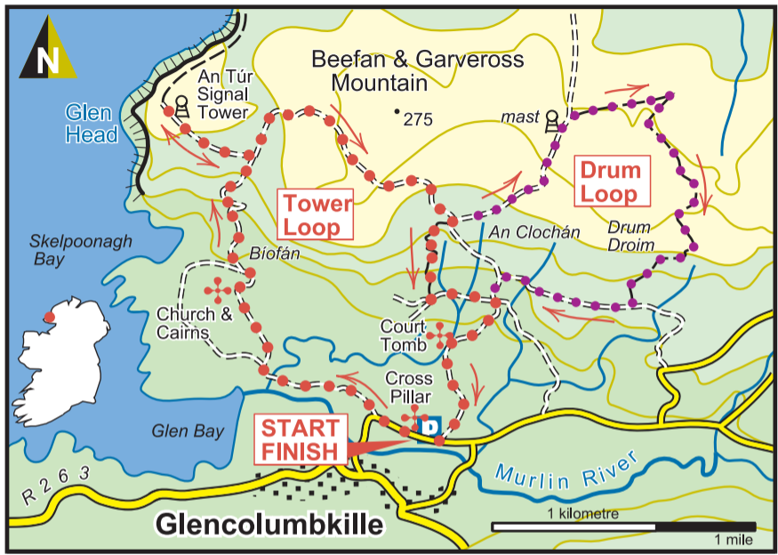 Donegal Trail article map