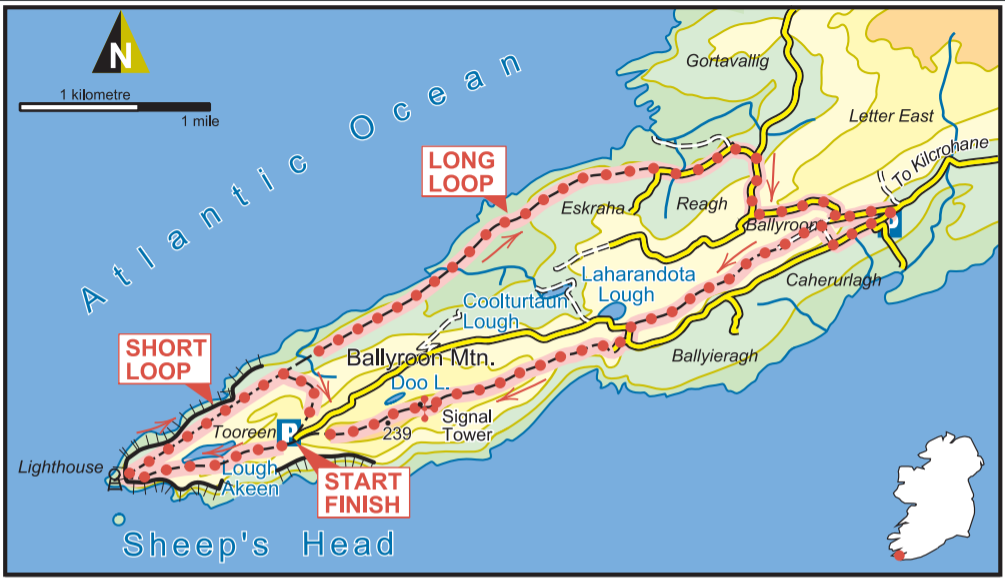Cork trail article map