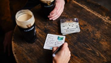 Guinness turning beermats into postcards as part of fantastic Christmas initiative