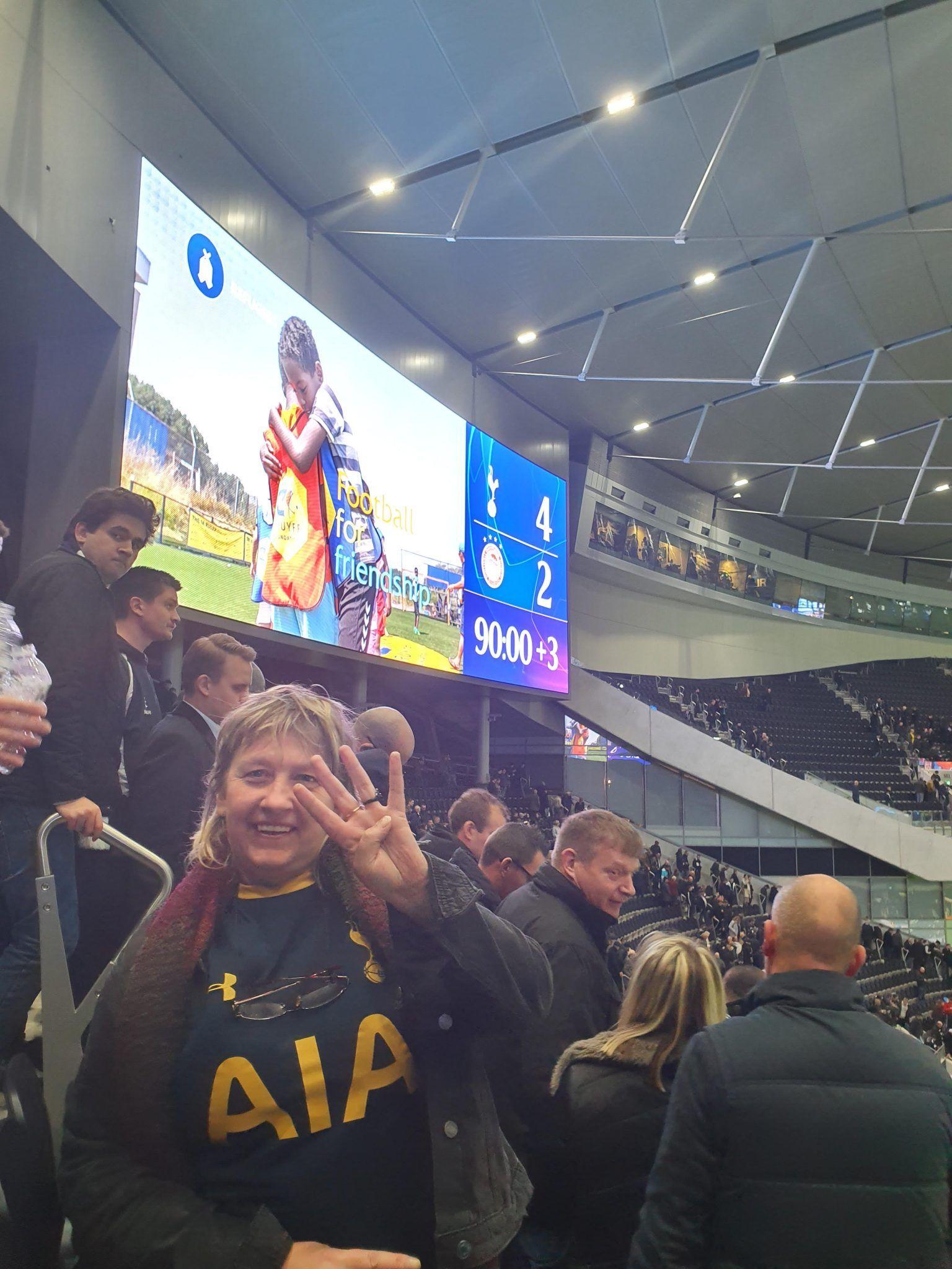Helen celebrates the win