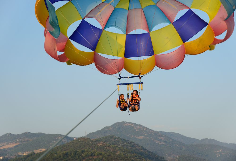 Aer Lingus parasailing sunshine adventures