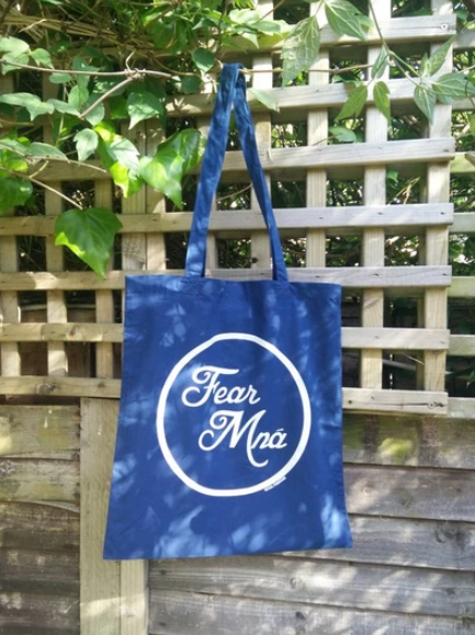 fear mna sustainable tote bag